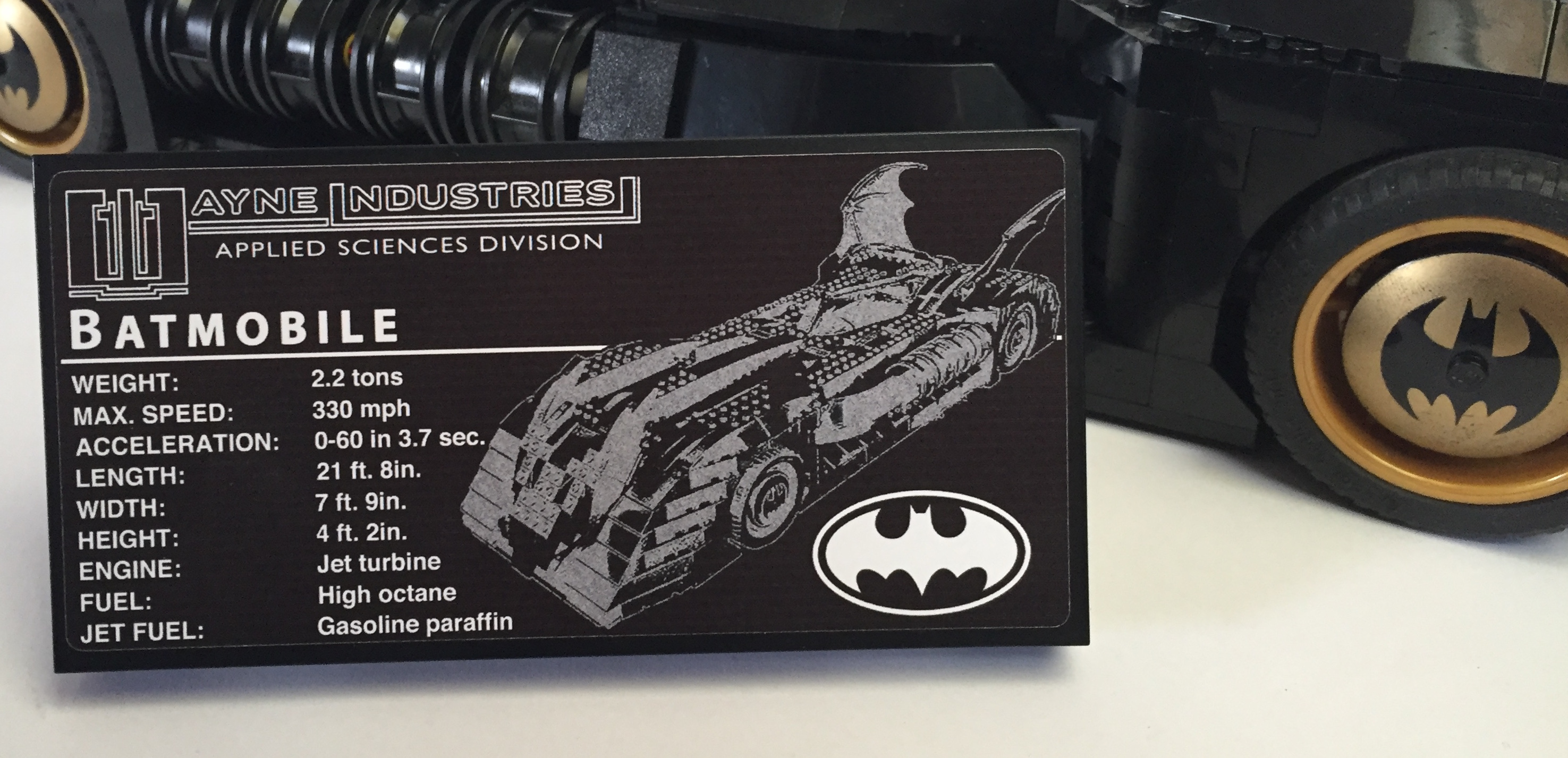 UCS Batmobile Custom Sticker